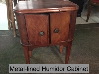 Metal-lined Humidor Cabinet