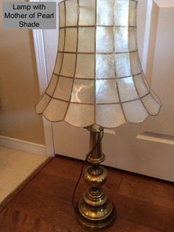 Lamp With Mother Of Pearl Shade