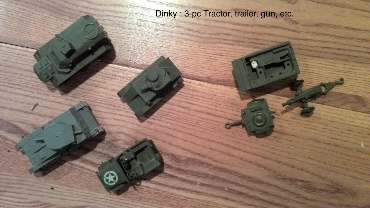 Dinky 3pc Tractor Trailer Gun
