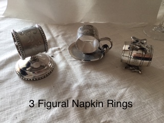3 Figural Napkin Rings