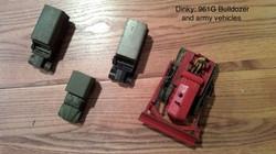 Dinky 961G Bulldozer&Army Vehicles