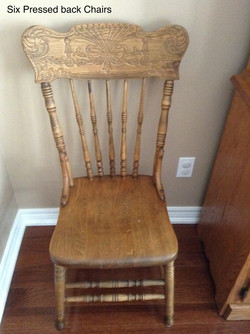 Six Pressed Back Chairs