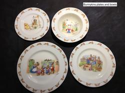Bunnykins Plates And Bowls