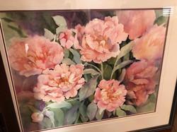 "25"" x 22"" floral Watercolour"