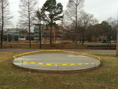 The slab has been poured on the campus of UALR