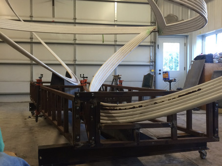 UALR piece is on the new cradle, and in the studio for restoration!
