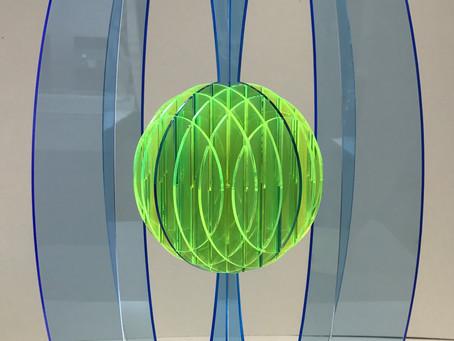 Still an unnamed form....acrylic, sphere, ellipses..fragile!