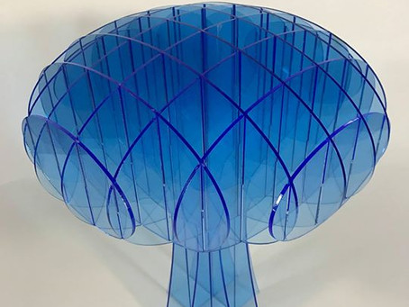 neon blue acrylic laurel