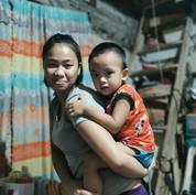 PAYATAS - FAMILY VISIT - Edil Mae and he