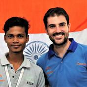 Kolkata - Rajesh and his coach Alexis du