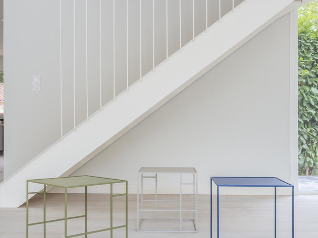 Escalier harpe et collaboration HELADO DESIGN