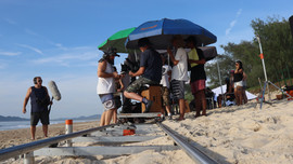 making of: filming on the beach