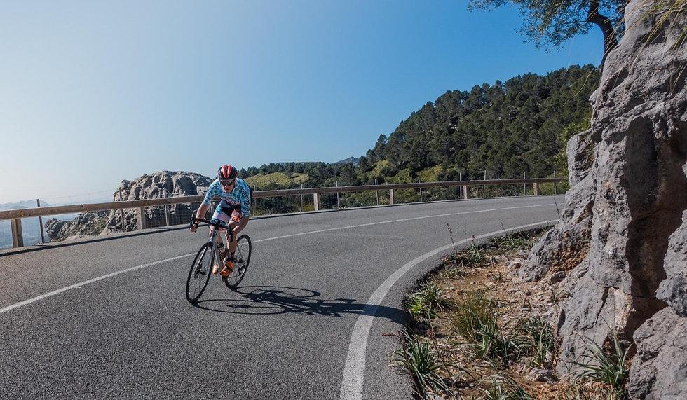 Michael riding in Mallorca