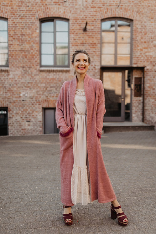 KNITTED LONG JACKET