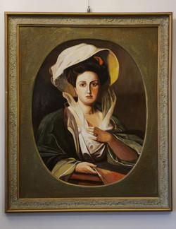 Portret damy w dużym kapeluszu