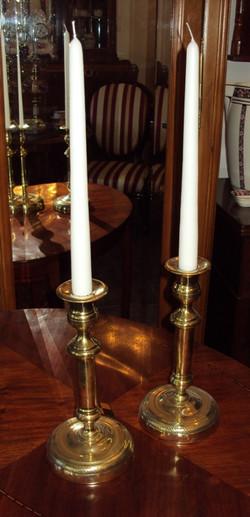 2 mosiężne świeczniki