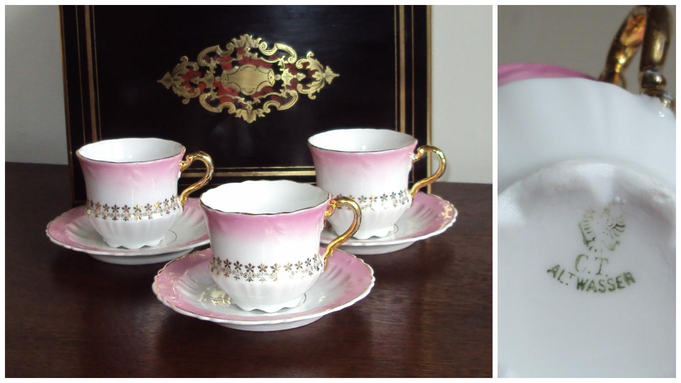 3 porcelanowe filiżanki