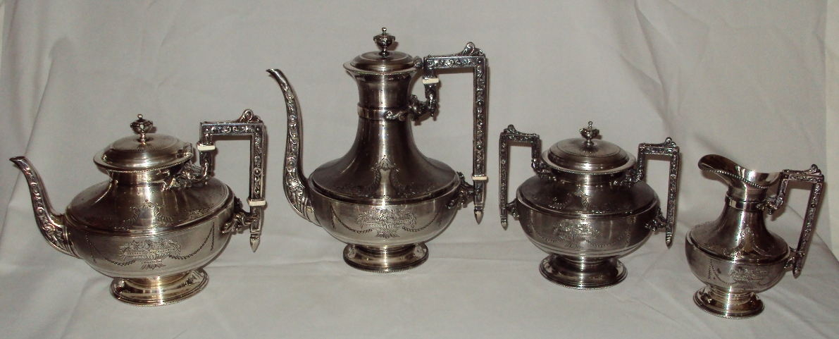 Secesyjny komplet do kawy i herbaty