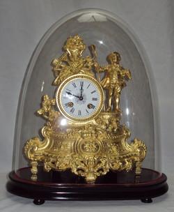 Zegar kominkowy złocony