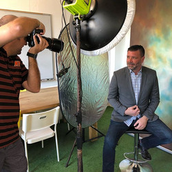 There is still time to stop by and get your fresh, new headshot! Shane Rice will be here until 5pm