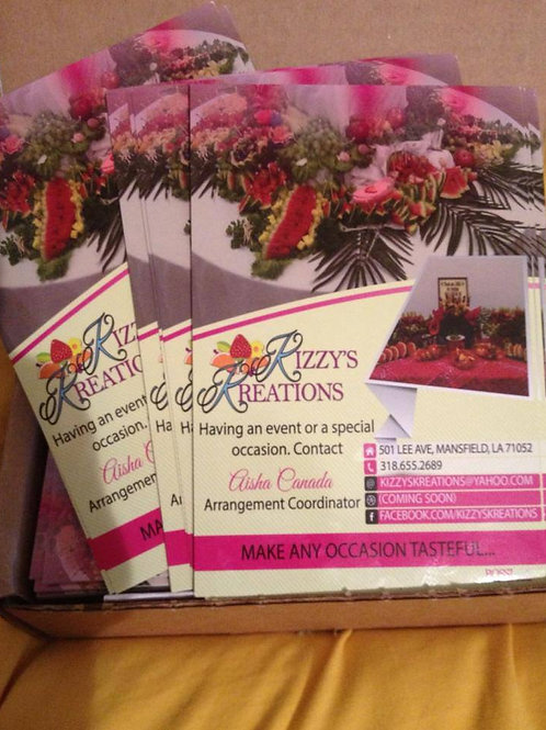 500 4x6 Flyers + Design Package
