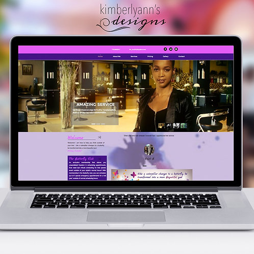 5 Page Ecommerce Website