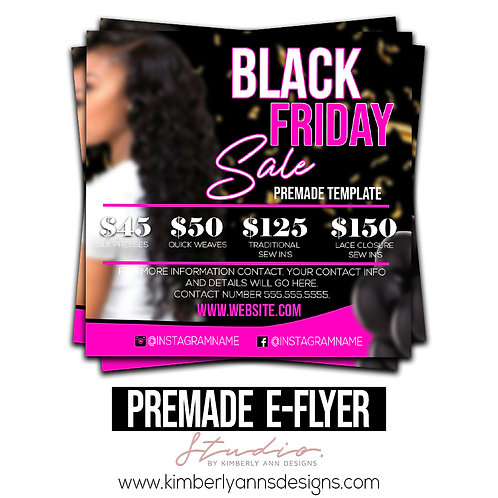 Black Friday Premade Template 1