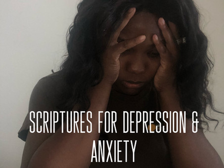 Scriptures for Depression & Anxiety