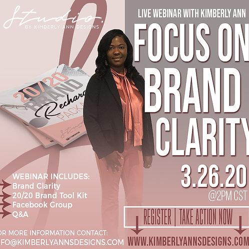 Brand Clarity Live Webinar