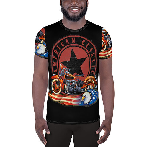 American Classic All-Over Print Men's Athletic T-shirt
