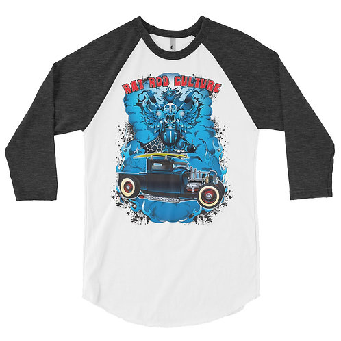 Rat Rod Culture 3/4 sleeve raglan shirt