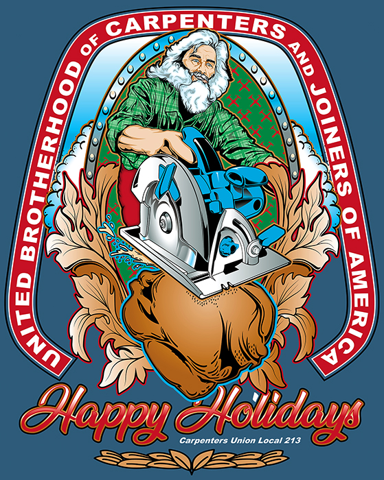 Carpenter Holiday Tee Final Sample
