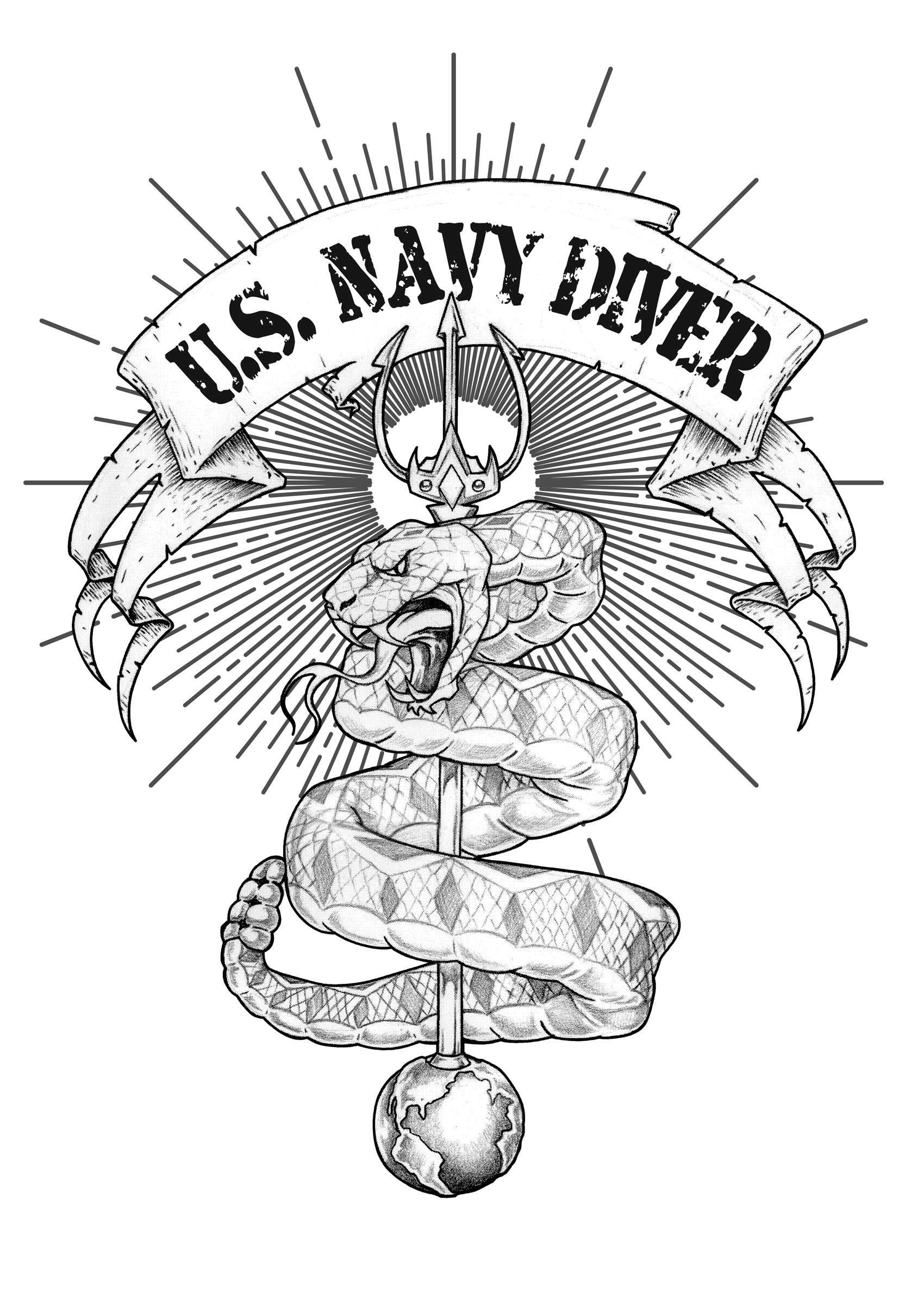 09-10-SC Navy Snake Fork