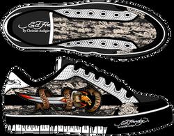 Striped-Shoe-Print