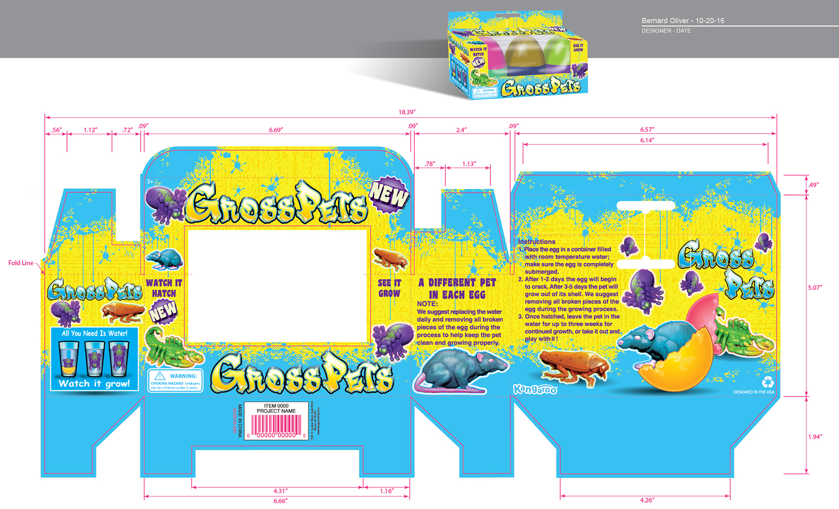 Gross Pets 3pack