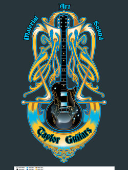 Blue Flame Guitar