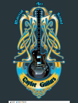 Blue Flame Guitar