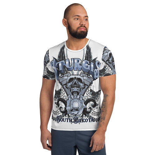 Sturgis All-Over Print Men's Athletic T-shirt