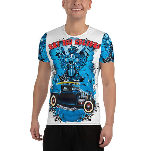 Rat Rod Culture All-Over Print Men's Athletic T-shirt