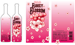 Boozy Blossom Label