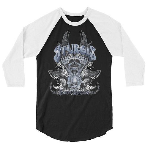 Sturgis 3/4 sleeve raglan shirt