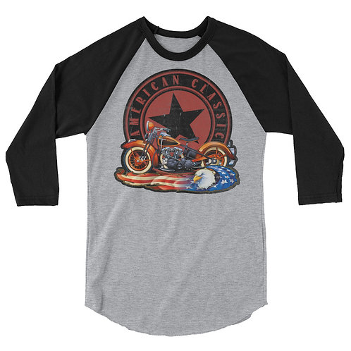 American Classic 3/4 sleeve raglan shirt