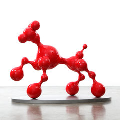 Bubble Dog (Red), 2017