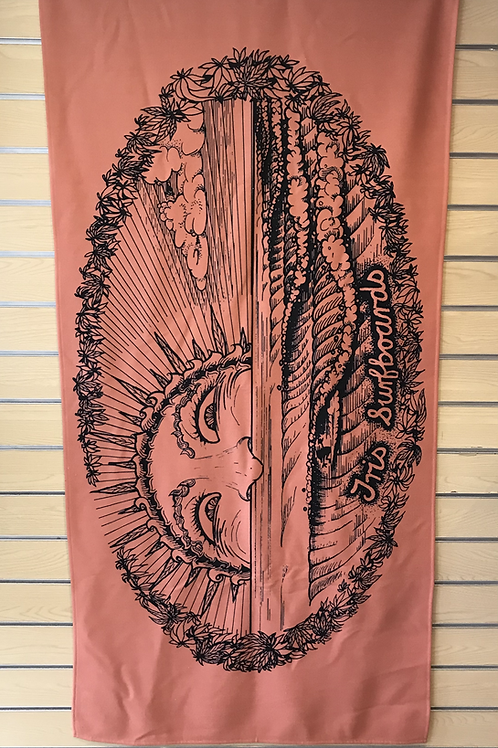 Tris Surf  Beach/Travel Towel - Terracotta