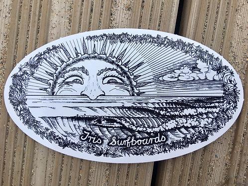 Classic Tris Sun Sticker