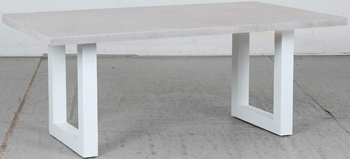 GRC Cement table with U leg white