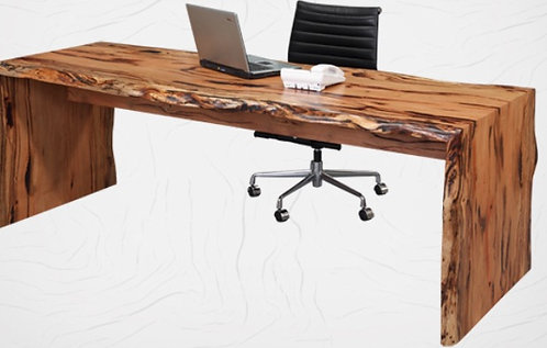 Natural Edge Desk with Acrylic