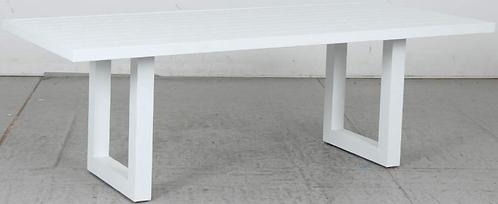 Aluminium table white U leg