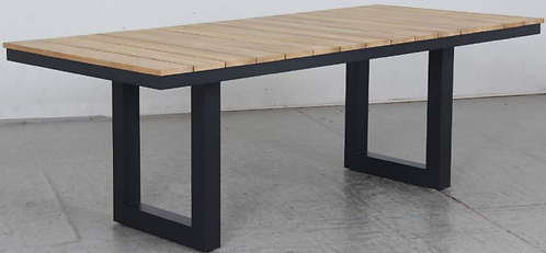 Natural Teak Gunmetal frame table