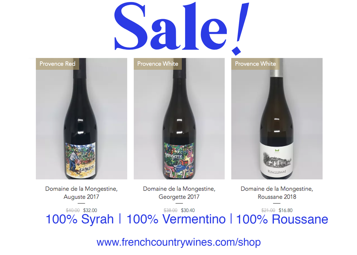 Mongestine Wines on Sale July 2020